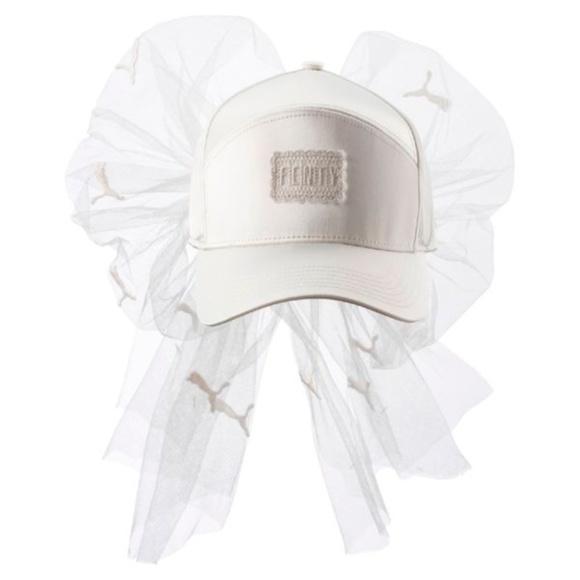 Fenty Puma By Rhianna Satin Mesh Lace Bow Cap e8141b57607
